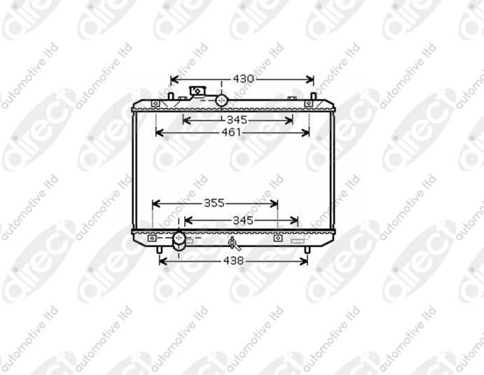 RADIATOR 1.3 16V/1.5 VVTi/1.6 VVTi Gti MANUAL +/- AC