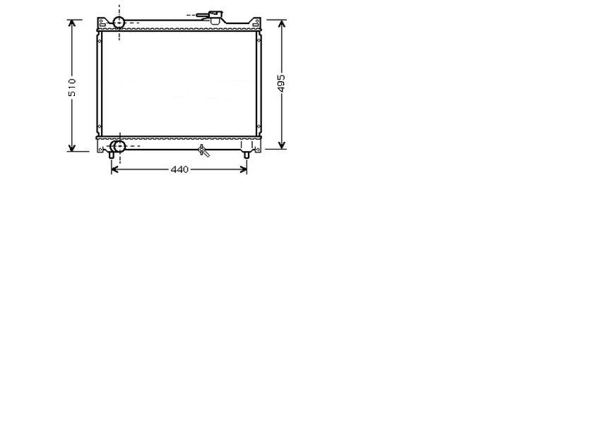 Radiator 2.0 16V / 2.5 24V Manual 1999>