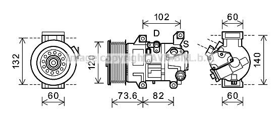 Replacement Car Parts for Toyota Avensis Compressor 2.0 d-4d