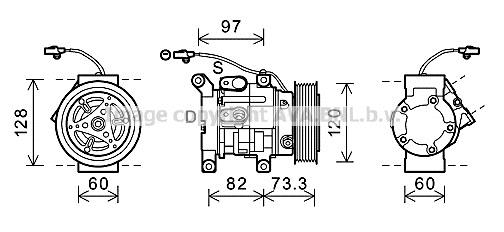 Replacement Car Parts for Toyota Hilux Compressor 2.5 d 4wd