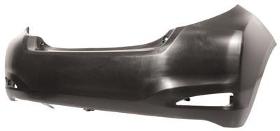 Rear Bumper Smooth Black Finish Not SR Model for TOYOTA YARIS