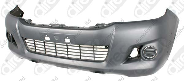 Replacement Car Parts for Toyota Hilux Front bumper with fog lamp hole / with wheel arch trim hole 4wd models