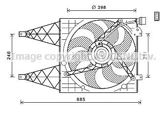 Replacement Car Parts for Volkswagen Fox Electric fan 1.2 petrol man bmd/chfb / 1.4 tdi bnm 2005>