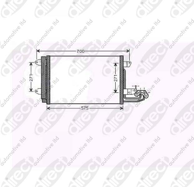 Replacement Car Parts for Volkswagen Eos Condenser all models