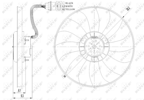 Replacement Car Parts for Volkswagen Fox Electric fan 1.4 tdi manual