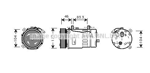 Replacement Car Parts for Volkswagen Caravelle Compressor 2.5 tdi