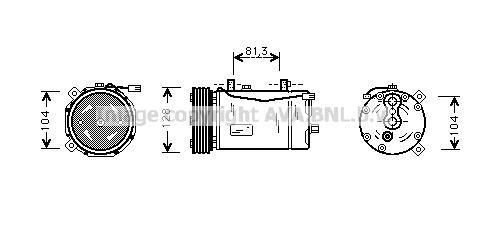 Replacement Car Parts for Volkswagen Caravelle Compressor 2.4 d