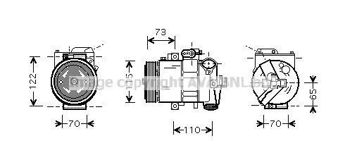 Replacement Car Parts for Seat Cordoba Compressor 1.4 16v