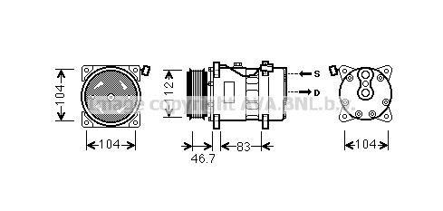 Replacement Car Parts for Volkswagen Caravelle Compressor 1.9 td